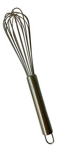 12.5 Inch Balloon Whisk - 18/8 Stainless Steel - 8 Sturdy Wires - Gourmetics Kitchens Cooking Whisk by Gourmetics Kitchens