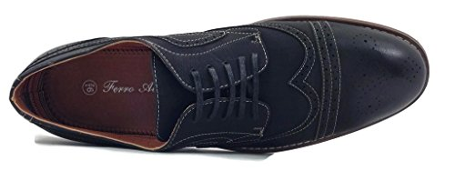 Ferro Aldo 139357e Hombres Lace Up Oxfords Shoe Leather Lined Wingtip