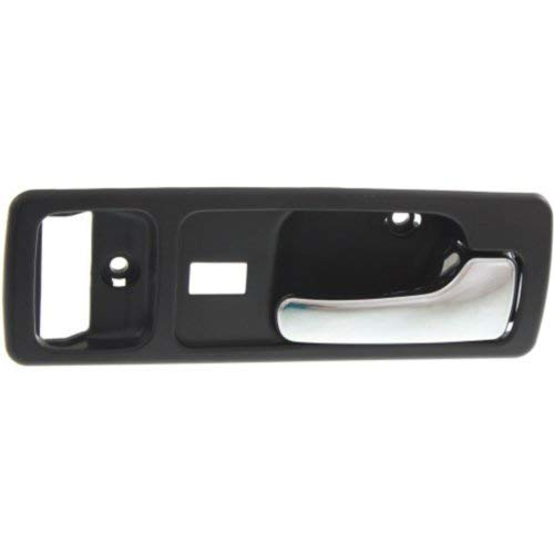 Interior Front Door Handle Compatible with HONDA ACCORD 1990-1993 RH Chrome + Black with Power Lock USA Built Coupe ()