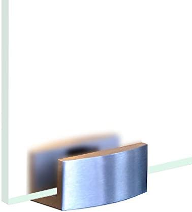 BV775GA Glasschiebet/ür Glas Schiebe T/ür VSG hochglanz grau 775x2050mm inkl Soft/_Stop Edelstahl Schiebet/ürbeschlag