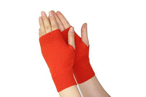 Olyerレディース指なし手袋伸縮性ニットカシミア冬暖かい手袋ユニセックス