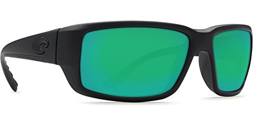 Costa Del Mar Fantail Sunglasses, Blackout, Green Mirror 580 Plastic Lens