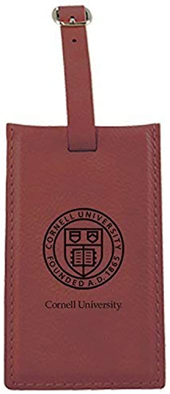 Cornell University-Leatherette Luggage Tag-Brown Inc LXG