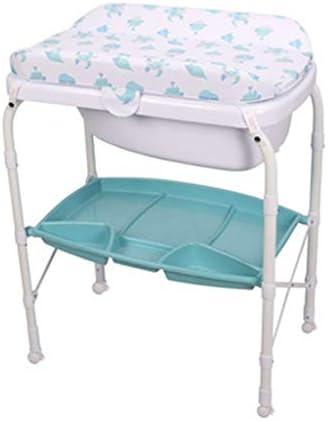 おむつ交換台 隠しバスタブ付き。 シートベルト付き折りたたみ式ドレッシングステーション 多目的 0-2歳の新生児用化粧台