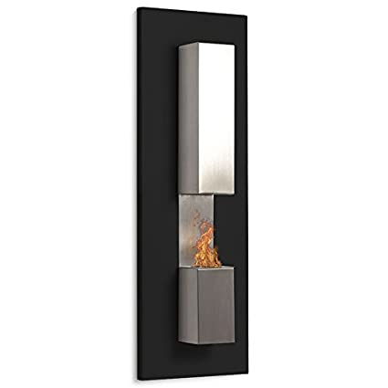 Fireglass – Chimenea de etanol (estufa bio, de pared), color negro