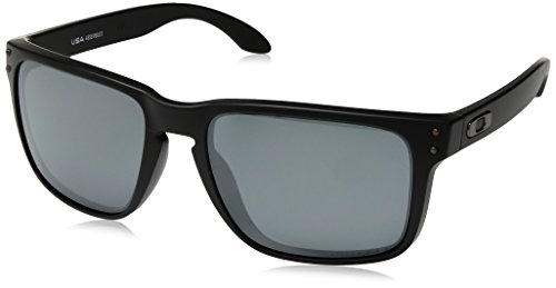 Oakley Men's OO9417 Holbrook XL Square Sunglasses, Matte Black/Prizm Black Polarized, 59 ()