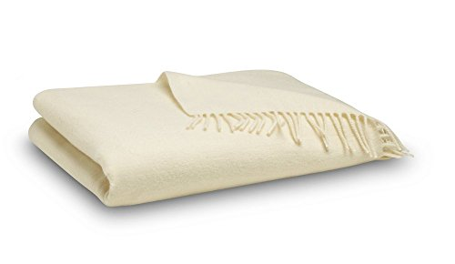 Merino Blanket - Merino Wool Throw Blanket - Ivory