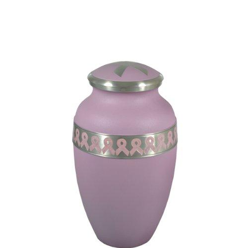Cremation Urn: Pink Breast Cancer Ribbon Keepsake, 3