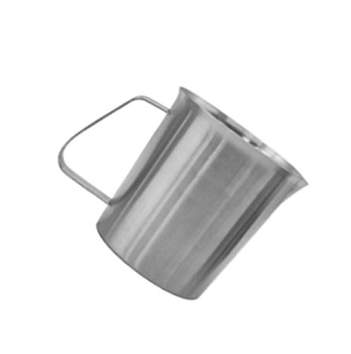 Milk Frothing Steaming Pitcher – Stainless Steel Measuring Cup with Handle for Milk Coffee Kitchen (24 ()