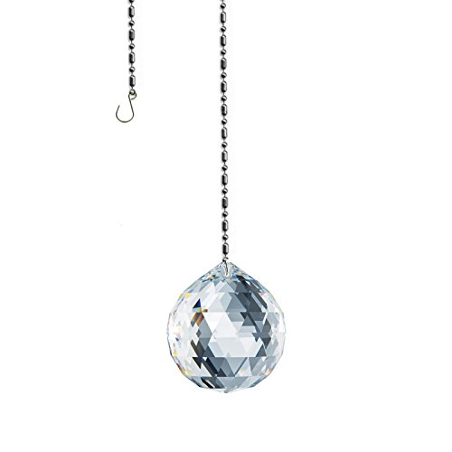 Swarovski Spectra crystal 20mm Clear Lead Free Feng Shui Faceted Ball Sun (Ab Snowflake Pendant)