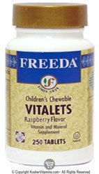 Raspberry Chewable Flavor (Freeda Vitalets-Children's Chewable Raspberry Flavor - 250 CHW)