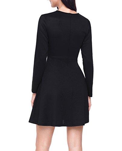 Kleid kurz schwarz langarm