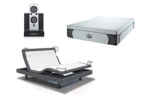 Dynastymattress 14 5 Inch Coolbreeze Gel Memory Foam Bed With Reverie 8q Adjustable Base Set Sleep System Twin Xl Grey