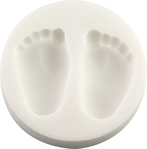 Baby Feet (2) Silicone Mold   Non-stick food grade mold, fondant mold, candy mold, resin mold, fimo mold, clay mold, soapmaking mold
