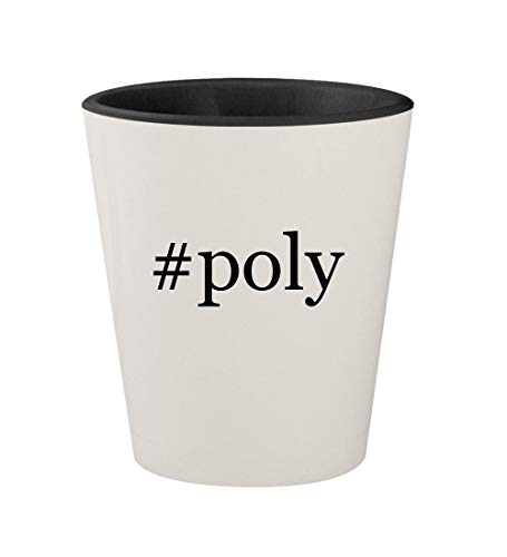 Price comparison product image #poly - Ceramic Hashtag White Outer & Black Inner 1.5oz Shot Glass