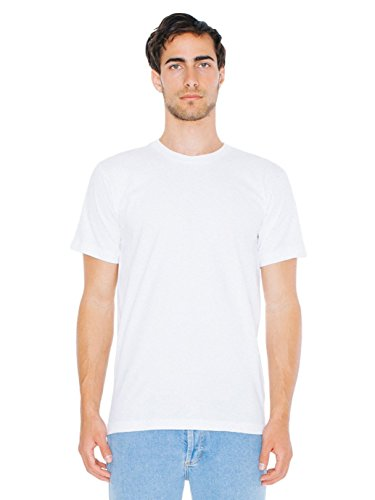 American Apparel  Unisex Fine Jersey Short Sleeve T-Shirt, White, X-Large