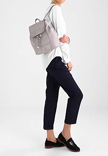 Work Anna Satchel Light College Bag Uni Minimalist Field Spring Daypack amp; Use Fashion Leather for Handbag Backpack Daily Shoulder Rucksack Ladies Grey PU r7rw1