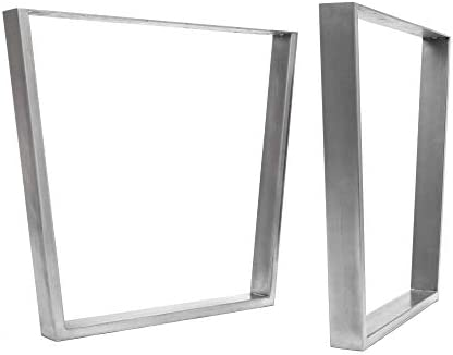 HLC] 2 x patas industriales de mesa con marco en V: acero ...