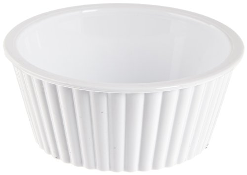 Carlisle 084502 SAN Fluted Ramekin, 4.5-o.z Capacity, 1.50 x 3.50'', White (Case of 48) by Carlisle (Image #1)