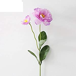 eu-knc 1 Branch 6 Colors DIY Artificial Flowers Rosemary Two Head Silk Flower Fake Plant for Wedding Home Party,Light Purple 49