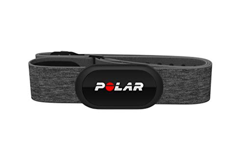 (Polar H10 Heart Rate Monitor, Bluetooth HRM Chest Strap - iPhone & Android Compatible, Gray)