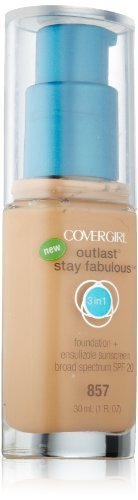 Covergirl Outlast Stay Fabulous 3-in-1 Foundation, Golden Tan 857 by CoverGirl