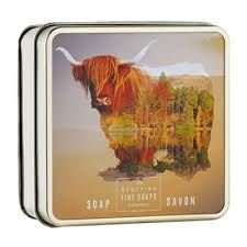 Scottish Soap Soap In A Tin Highland Cow 100g ()