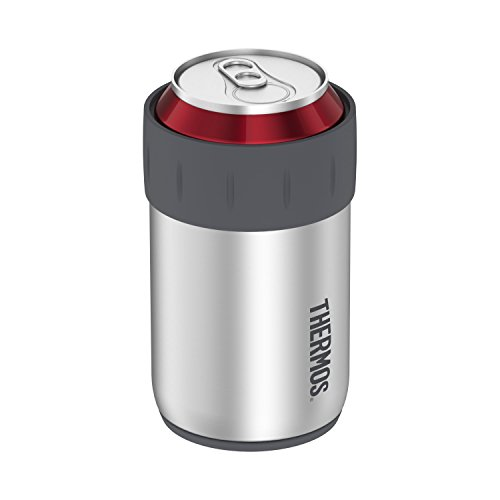 Thermos Stainless Steel Beverage Can Insulator for 12 Ounce Can, Stainless Steel