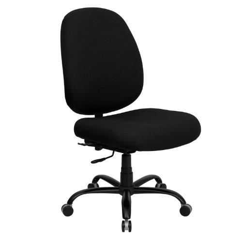 (Flash Furniture HERCULES Series Big & Tall 400 lb. Rated Black Fabric Executive Swivel Chair)