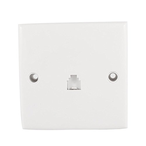 Rj11 Wall Mount - Uxcell RJ11 6 Position 4 Pins Outlet Socket Phone Wall Mount Plate for Landline Telephone