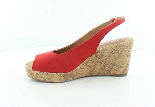 Style & Co. Womens Sondire Peep Toe Casual Slingback Sandals, Cerise, Size 8.0
