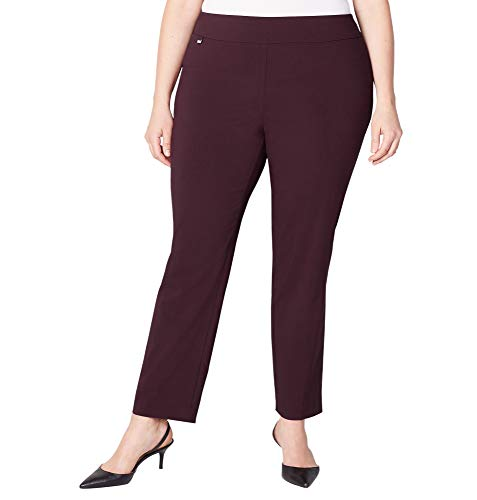 Avenue Women's Super Stretch Pull-On Pant, 22 Burgundy by Avenue