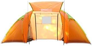 YAzNdom Tente de Camping Manuelle extérieure à Une Chambre, Deux Chambres, 4 Personnes Tente de Camping Touristique imperméable et Anti-moustiques
