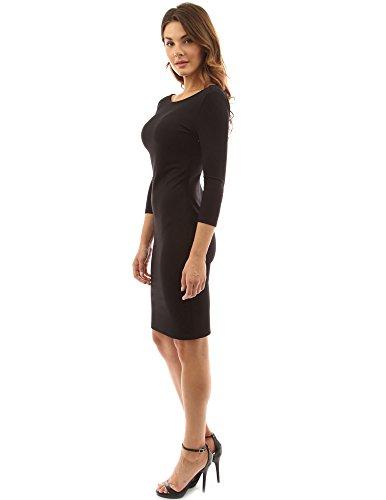 PattyBoutik Mujer 3/4 cucharada de nuevo bajo el vestido negro