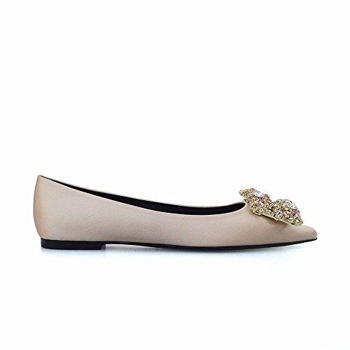 Zapatos do 34 Tacón Dhg Bajo Diamantes Salvaje Agudo Mujer Temperamento De Baja Boca SPddqnxOZw