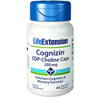 CDP-Choline Caps, 250 mg, 60 Vcaps by Life Extension (Pack of 5) by Life Extension