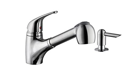 MS5828, Kitchen faucet, Single Handle low profile with sprayer and soap dispenser