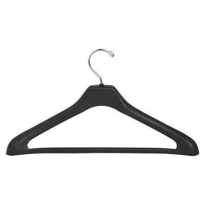 "Lorell Suit Hanger, 17"", Plastic, 24 per Pack, Black LLR01064"