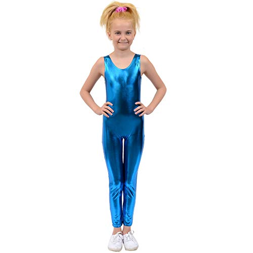 Stretch is Comfort Kid's Metallic Tank Doll Unitard SC -