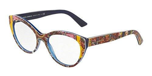 Dolce&Gabbana DG3246 Eyeglass Frames 3036-53 - Top Handcart/blue