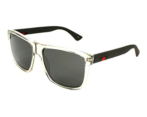 Gucci GG0010S 005 (Transparent Grey - Matt Grey with Grey with Mirror effect lenses)