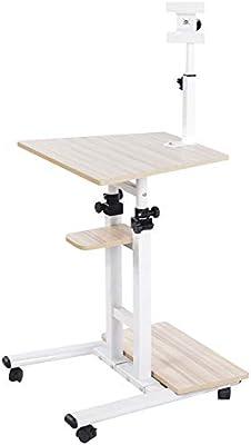 Mobile Stand Ordenador Workstation Rolling Ajustable Ordenador ...