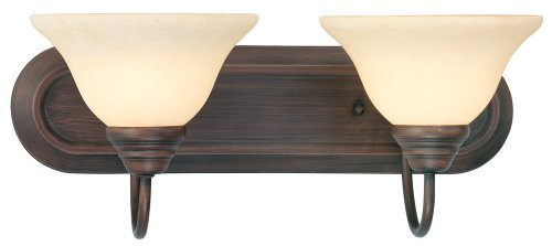 Livex Lighting 6112-58 Bath Vanity with Vintage Scavo Glass Shades, Imperial Bronze - Imperial Bronze Vanity