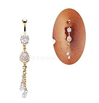 AOBitter Piercing de ombligo con anillo para ombligo 1 Style a