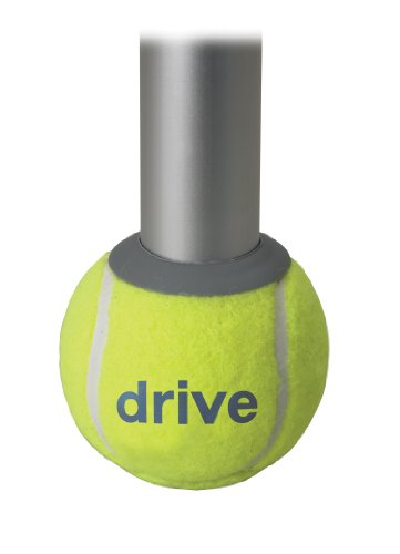 Drive Medical Deluxe Walker Rear Tennis Ball Glides, Yellow by Drive Medical