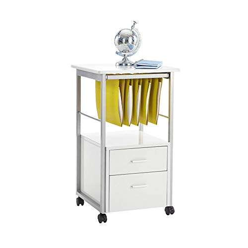 Realspace Halton 18 D 2-Drawer Mobile Vertical File Cabinet, White