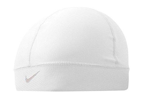 NIKE Pro Combat Skull Cap (White/Cool Grey, Osfm) -