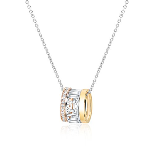 Bagutta Pavone Trinity Ring Pendant Necklace, Buyer Collection, White - Pavone Crystal