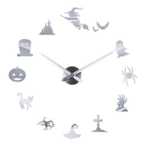 Redvive Top Creative DIY Wall Clock Mirror Wall Clock Home Halloween Decoration]()