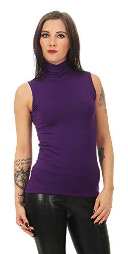 Mellice Maglietta Shirt Donna Da Smanicato 010 Dolcevita Lila wgFBwqa